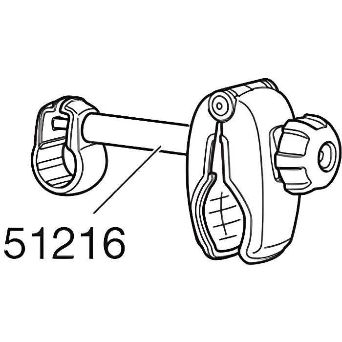 Branche vélo courte Thule sans fermeture pour Euroride 940/941