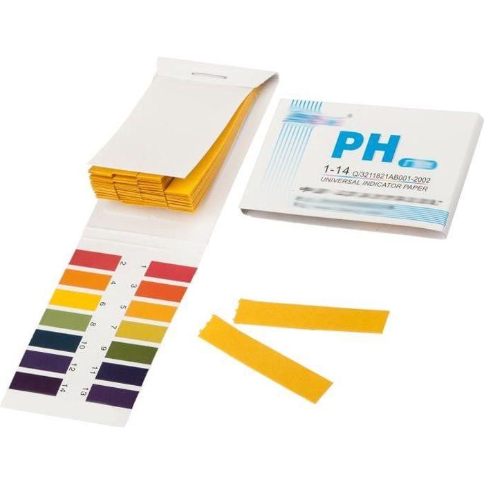 TRIXES Livret de 80 Bandes de Papier Tournesol Litmus pH 1 à 14