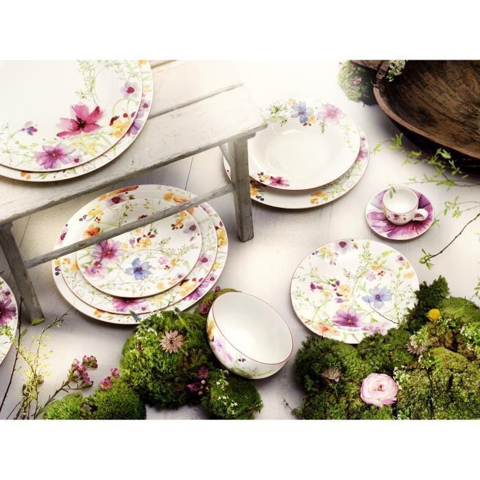 Villeroy & Boch 10-4100-2648 Assiette à Dessert Porcelaine Rose 22 x 23 x 7 cm 1 Assiette