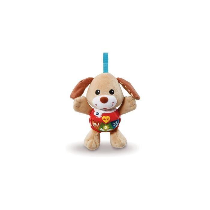 Peluche d'activites chien Chant toutou brun - Musical, lumineux, parlant - Premieres decouvertes - Jouet d'eveil bebe - Vtech