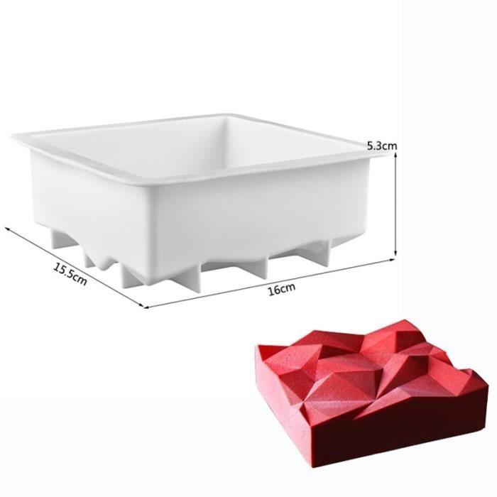 3 -Moule à gâteau en Silicone antiadhésif,géométrie irrégulière,poêle à Mousse 3D,Art de cuisson,pour Muffin Brownie pâtisserie,