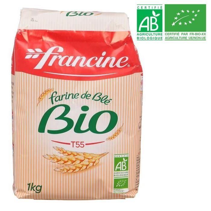 Farine de blé bio 1 kg Francine