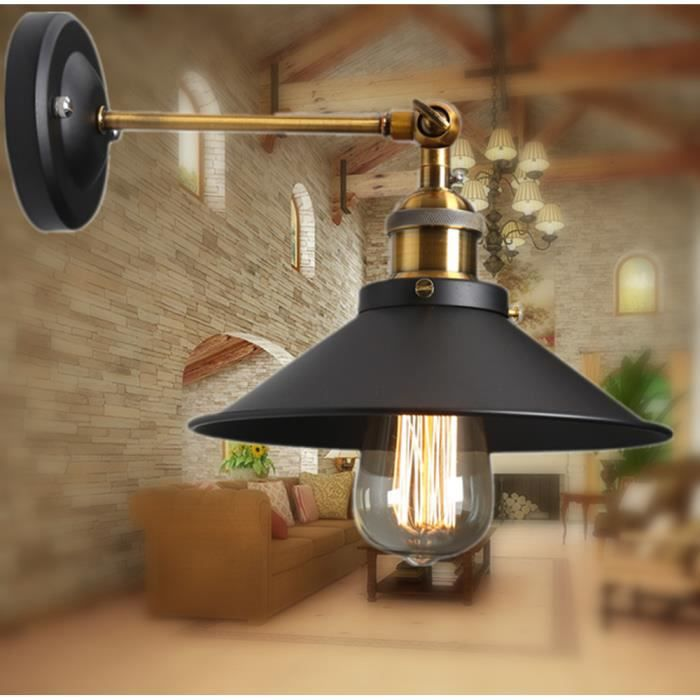 e27 vintage murale applique r glable suspensions luminaire. Black Bedroom Furniture Sets. Home Design Ideas