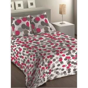 housse de couette 220x240 cm microfibre mentalo fuschia 2 taies d oreiller 63x63 achat. Black Bedroom Furniture Sets. Home Design Ideas