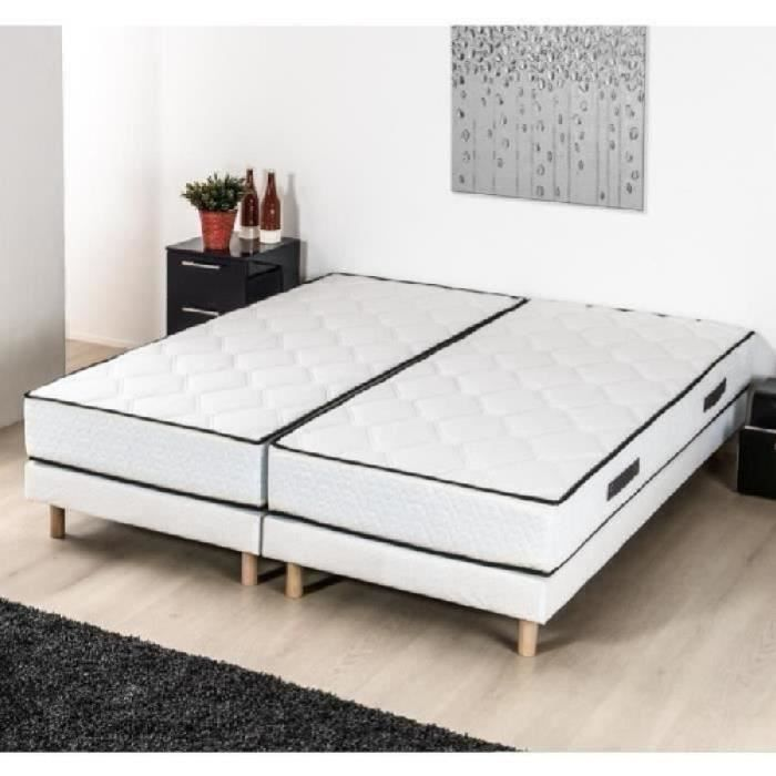 finlandek ensemble matelas sommier hyvyys 2x90x200 cm ressorts equilibr 590 ressorts. Black Bedroom Furniture Sets. Home Design Ideas
