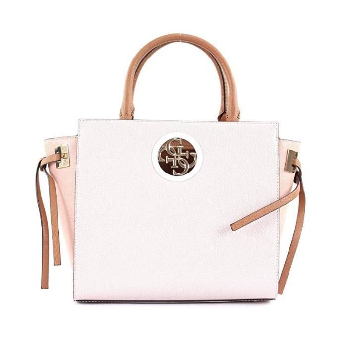 61b412abf6 Sac à main Guess Open Road Society Satchel Stone Rose - Achat ...