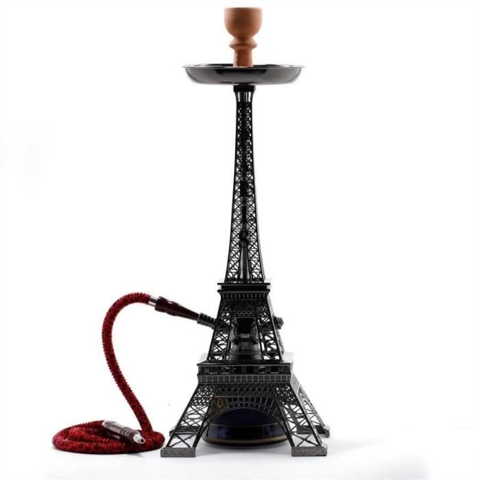 chicha tour eiffel paris 77cm simple tuyau noire achat vente chicha narguil. Black Bedroom Furniture Sets. Home Design Ideas