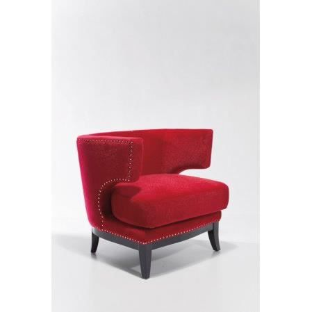 Fauteuil prince velours rouge achat vente fauteuil velours bois bouleau - Fauteuil velours rouge ...