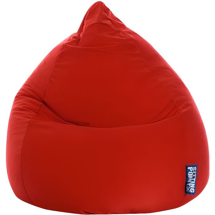 pouf poire easy xl rouge by sittingpoint achat vente. Black Bedroom Furniture Sets. Home Design Ideas