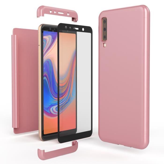 Ultra-Fine Cover Bumper Case T/él/éphone Etui Magn/étique Mince Housse Integrale Avant /& Arri/ère Protection avec Verre Tremp/é NALIA 360/° Coque en Verre Compatible avec iPhone X XS Couleur:Rose