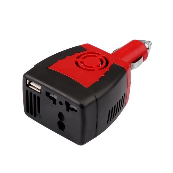150W onduleur de voiture Convertisseur DC 12V /à 220V AC sinuso/ïdale modifi/ée Power Wave avec USB 5V sortie Onduleur de voiture