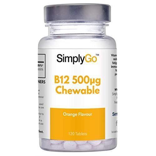 DÉFENSE IMMUNITAIRE  Vitamine B12 à Croquer 500µg | 120 comprimés