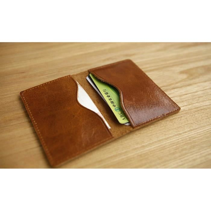 porte carte en cuir URAQT Porte Cartes Bancaire,Crédit,Fidelité, Portefeuille