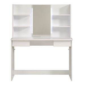 coiffeuse blanc laque achat vente coiffeuse blanc. Black Bedroom Furniture Sets. Home Design Ideas
