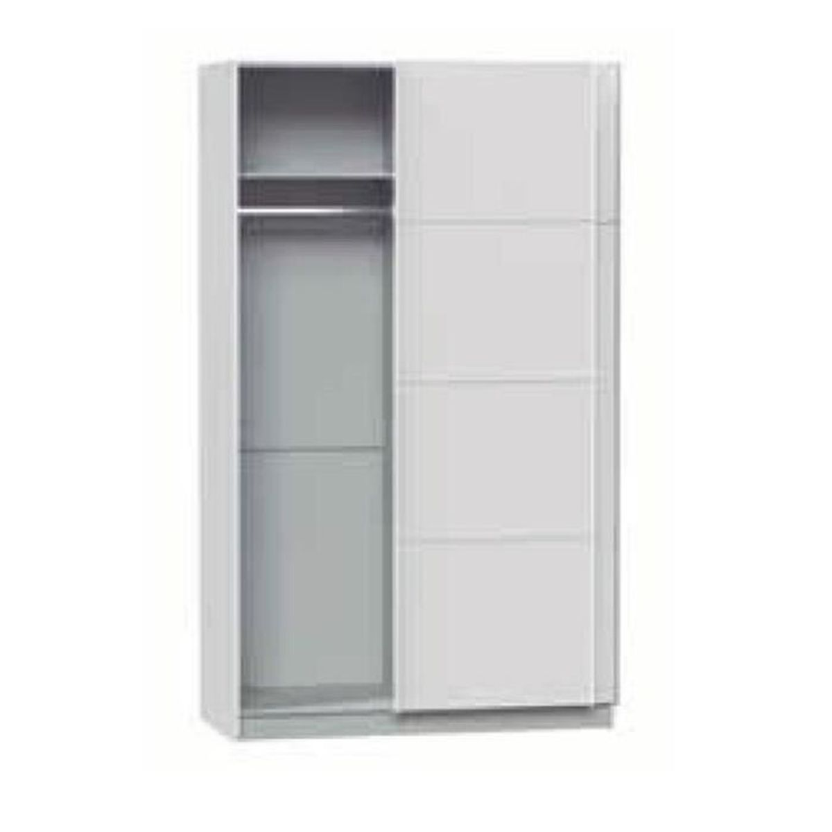 armoire avec 2 portes coulissantes coloris blanc dim 120 x 60 x 220 cm achat vente. Black Bedroom Furniture Sets. Home Design Ideas