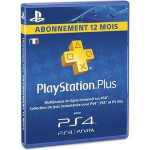 CARTE MULTIMEDIA Abonnement Playstation Plus 12 Mois PSVita-PS3-PS4