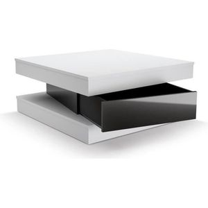 TABLE BASSE FIXY Table basse carrée style contemporain blanc e