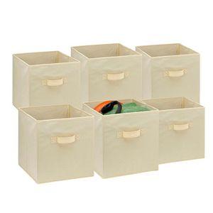 BOITE DE RANGEMENT Lot de 6 cubes de rangement pliants Tiroir de rang