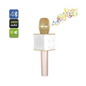 MICROPHONE - ACCESSOIRE Microphone Karaoke - Bluetooth Double haut-parleur
