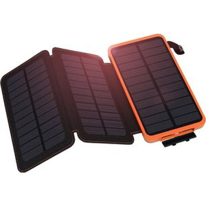 BATTERIE EXTERNE Chargeur solaire 3 Panneau 10000mAh, Dual USB Haut