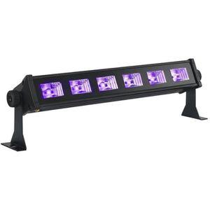 LAMPE ET SPOT DE SCÈNE IBIL LED-UVBAR6 Barre à led uv 6 x 3w - Noir