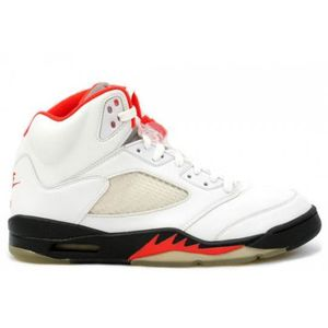 finest selection 3aa89 20369 BASKET Air Jordan 5 White Black Fire Red