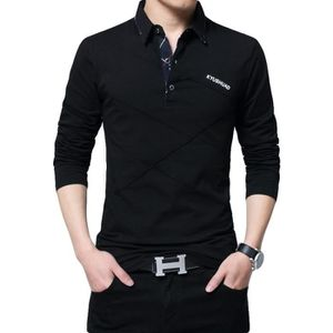 POLO Polo vetement Homme Marque Luxe manche longue impr