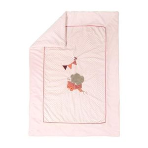 Nattou Tapis d/Éveil /Él/éphant Ad/èle 100 x 100/cm Ad/èle et Valentine Blanc//Rose