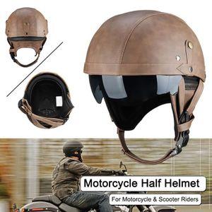 Demi Casque Moto Vintage