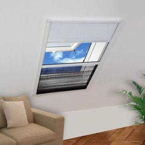 STORE DE FENÊTRE Moustiquaire plissée pour fenêtre 160 x 110 cm ave