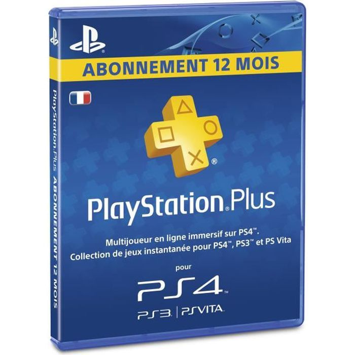 abonnement playstation plus 12 mois psvita ps3 ps4 achat vente carte multimedia abonnement. Black Bedroom Furniture Sets. Home Design Ideas