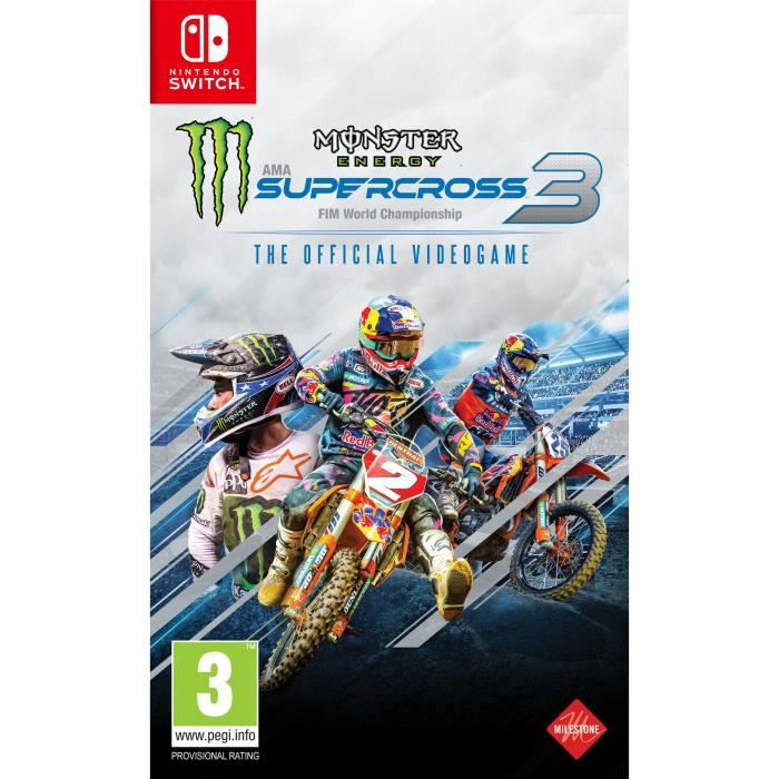 SORTIE JEU NINTENDO SWITCH Monster Energy Supercross 3 Nintendo Switch