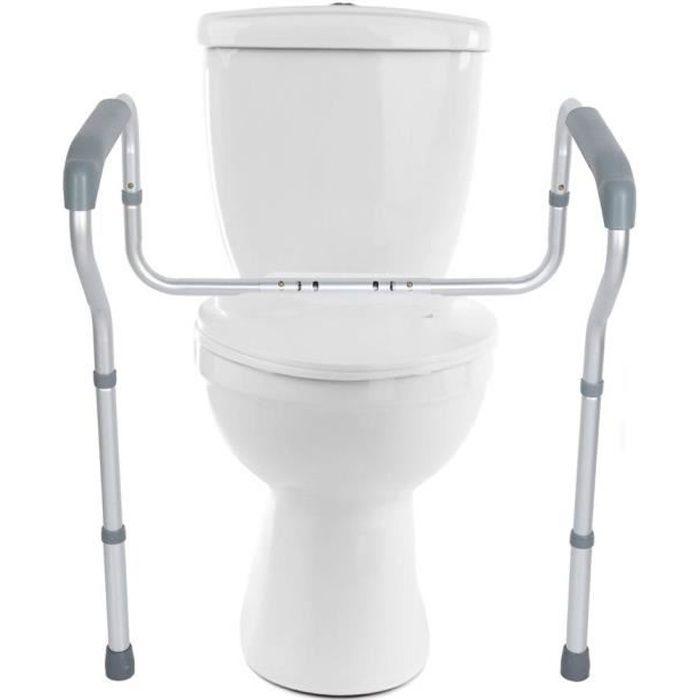 TUB Barre appui WC, Barre wc handicape, Cadre de toilettes Cadre de sécurité Largeur et Hauteur Adjustable