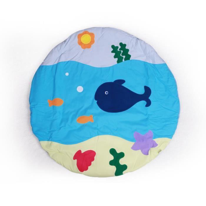 Trois couleurs Monde sous-marin Tapis de jeu bébé Fitness Tapis de protection 0-2 ans