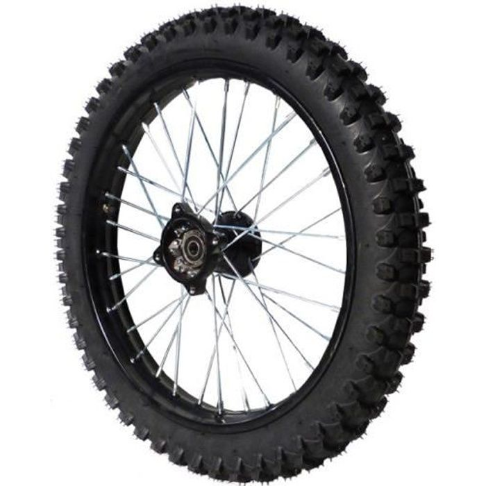 Roue avant 17- - Axe 15mm - Acier - Dirt Bike