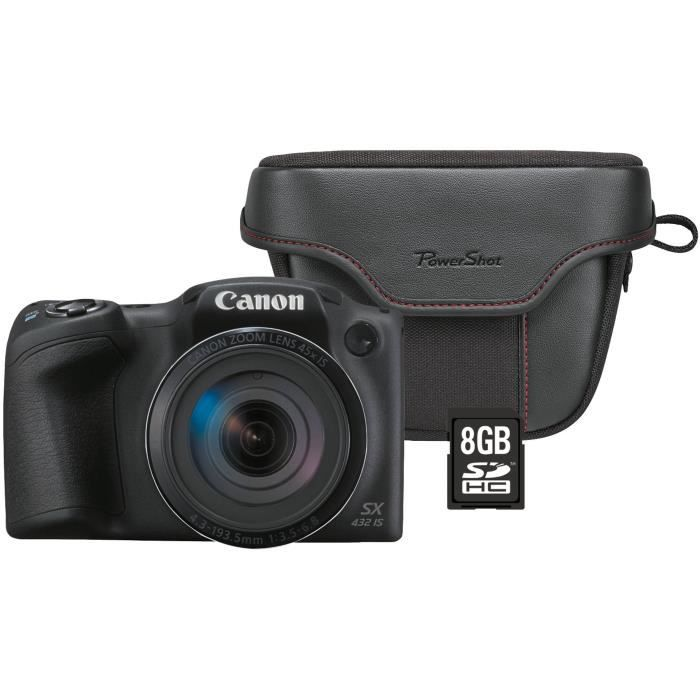 CANON SX431 Pack Powershot + Sacoche + Carte 8Go - Bridge zoom 45x - Résolution 20,5 Mpixel - Noir