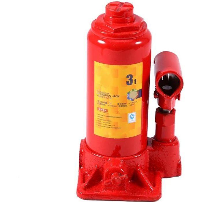 Cric Bouteille Hydraulique, 3T Cric de Levage Hydraulique -Cric-bouteille hydraulique Voiture Elévateur de Levage ˇ 96