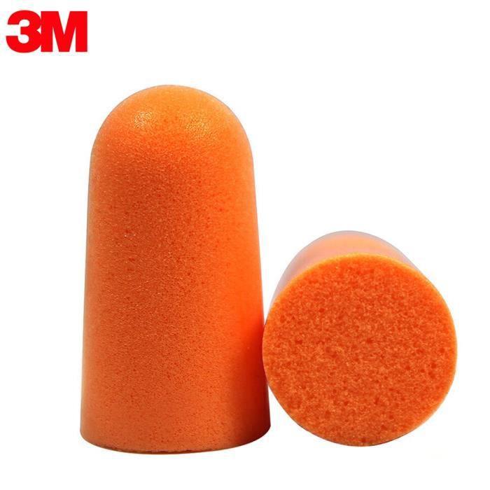 3M 1100 Bouchons d'oreille en mousse Bouchons d'oreille non cordés 29 dB Indice de réduction de bruit 10 paires Emballage ind-9