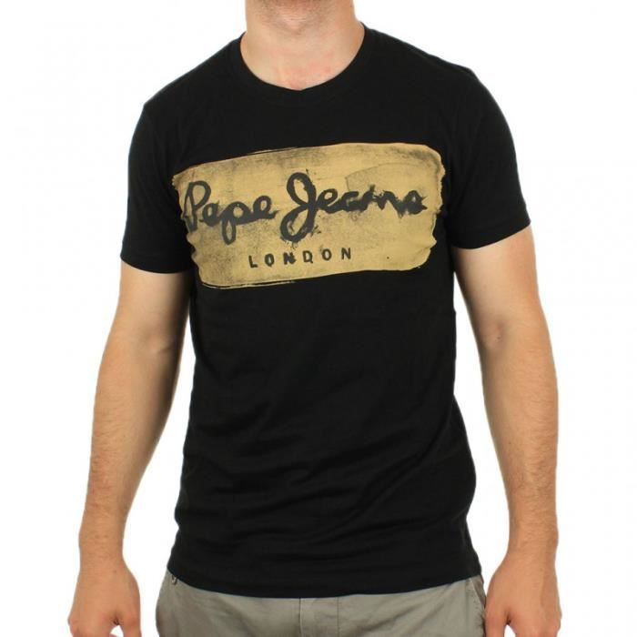 Pepe Jeans - Tee Shirt Charing Noir pour Homme