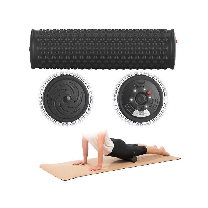 Rouleau de massage vibrant Ø 8,5 cm à 5 niveaux de vibration