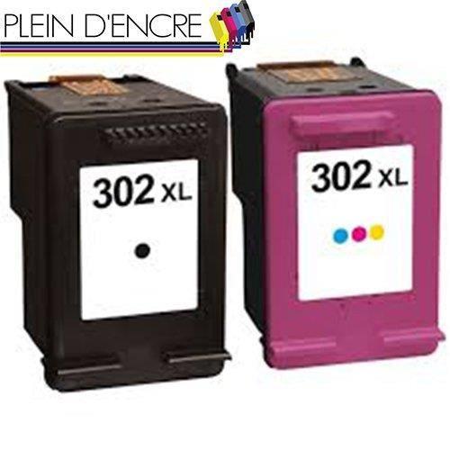 Multipack cartouches N° 302 XL pour imprimante HP ENVY 4520 4521 4522 4523 4524 4525 4527 4528 - PLEIN D'ENCRE