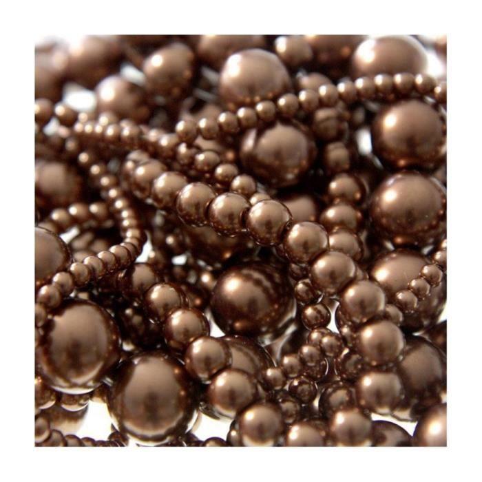 Perles nacrées 12 mm en verre de bohême couleurs vives lot de 10 Bronze