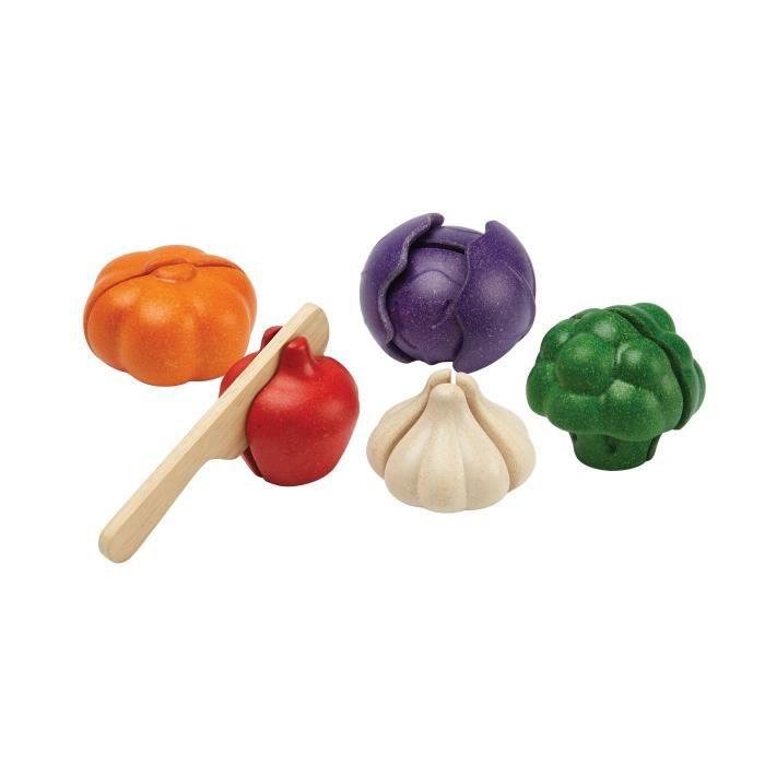 PLAN TOYS Assortiment de 5 nouveaux légumes à découvrir