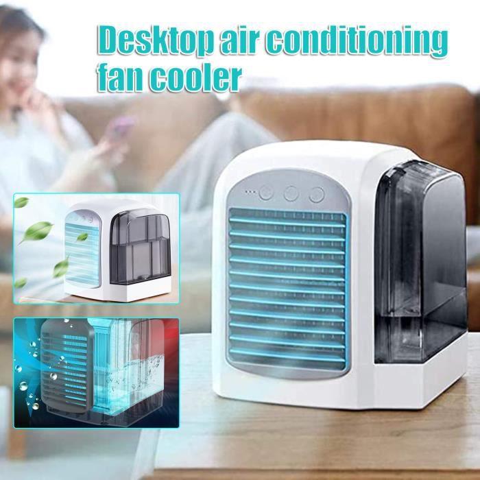 Bleu -Humidificateur de purification, mini refroidisseur d'air, avec réservoir d'eau de 380 ml, 3 modes réglables, pour la maison