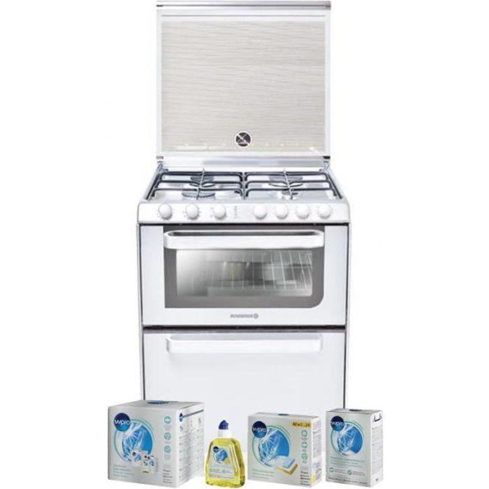 ROSIERES Lave-vaisselle posable blanc 6 couverts combiné Four Table de cuisson