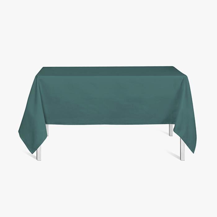 Nappe rectangle polyester FAMILY 140x200 Emeraude