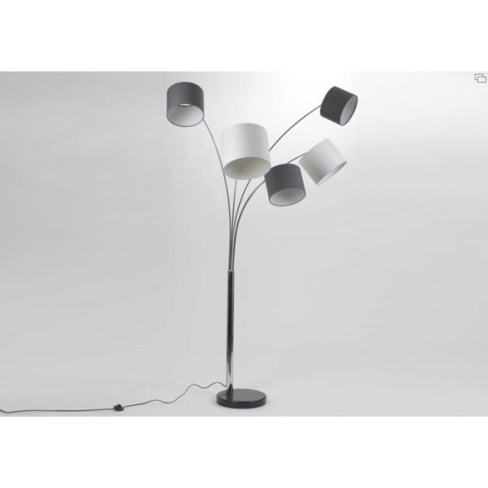 DEL Lampe Pendule Blanc Aluminium 95 cm étroit intemporel Bureau Lampe 3000k Blanc Chaud