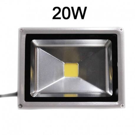 Projecteur led exterieur etanche ip65 20w blanc neutre for Projecteur led exterieur 20w