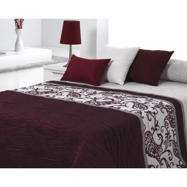 couvre lit 250x270 cm tiss jacquard carvex bordeaux pour lit de 160x200 cm fabriqu en espagne. Black Bedroom Furniture Sets. Home Design Ideas