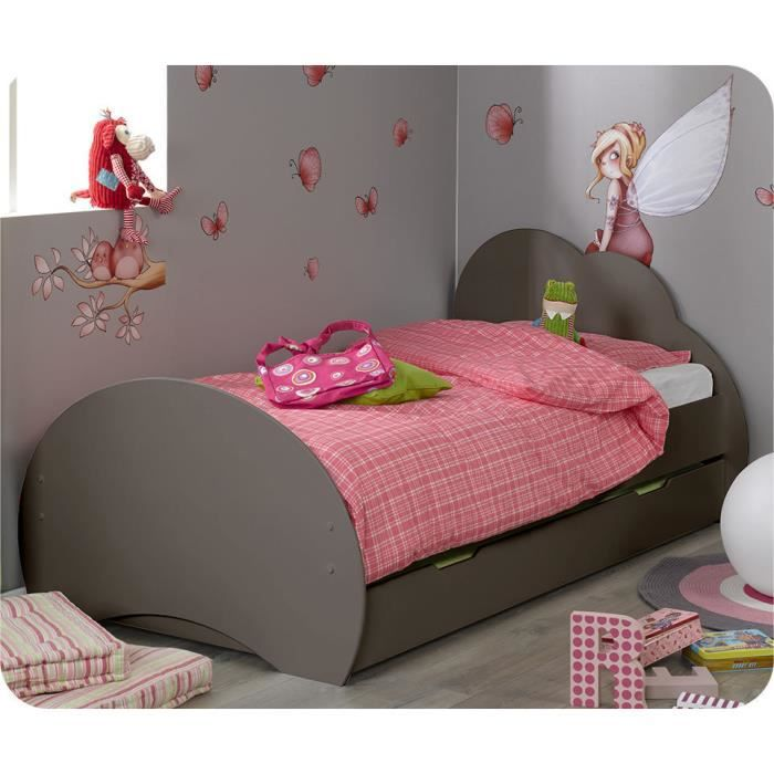 lit enfant nuage taupe 90 x 190 cm achat vente. Black Bedroom Furniture Sets. Home Design Ideas